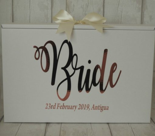 Personalised Bride Wedding Dress Travel Box Standard Airline hand luggage size