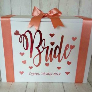 Personalised Bride Wedding Dress Travel Box- Standard Airline hand luggage size