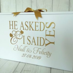 Wedding Dress Box, He Asked Personalised Box