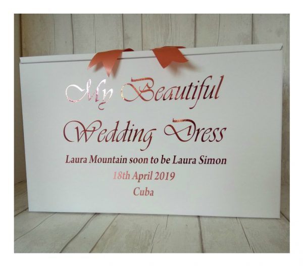 luxury wedding dress boxes