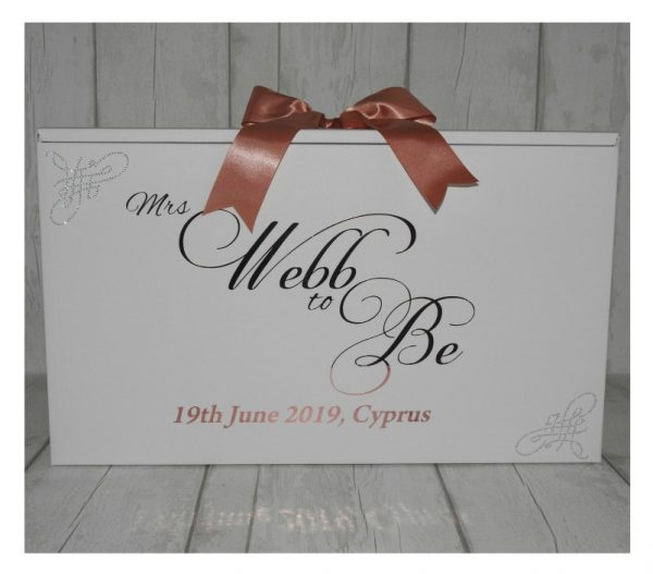 personalised wedding dress boxes