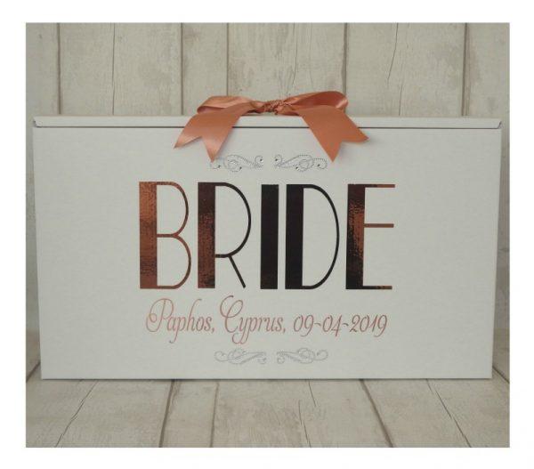 wedding dress boxes paris bride dress box in rose gold