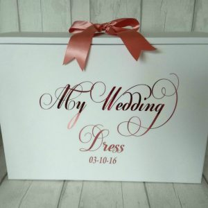 my wedding dress box