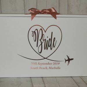 personalised Bride travel box for wedding dress