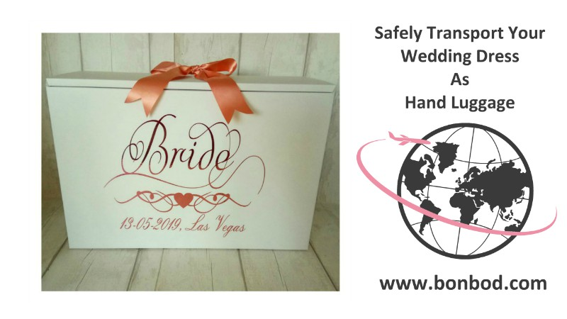 a las vegas design for a wedding dress travel box