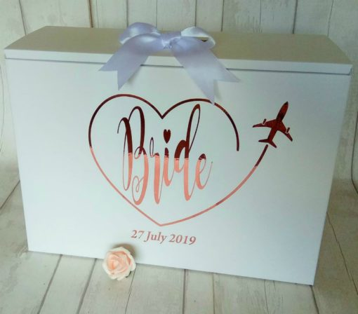 bride plane heart dress box