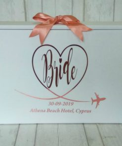 BRIDE Wedding Travel Box for Bride Personalised