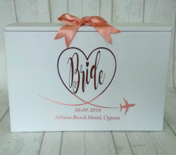BRIDE TWedding Travel Box for Bride Personalised