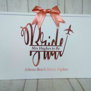Bride Wedding Dress Travel Box, Personalised Split Monogram