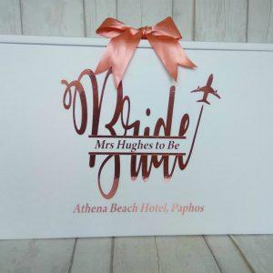 Bride Wedding Dress Travel Box, Personalised Split Monogram