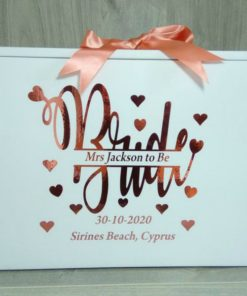 personalised wedding box