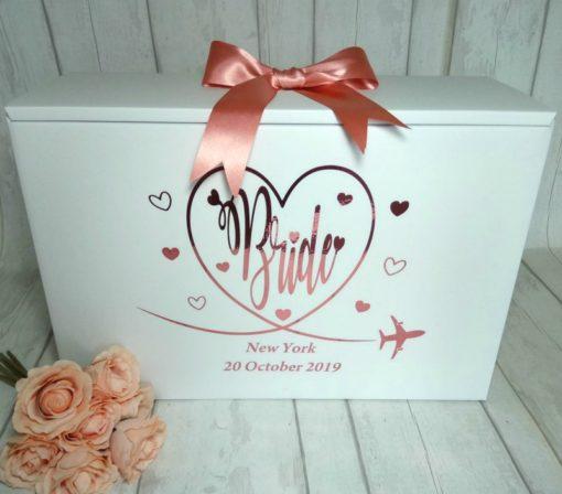 Travel wedding box for bride