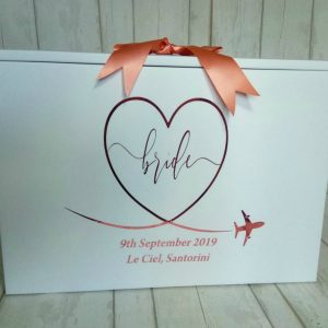 personalised wedding dress box