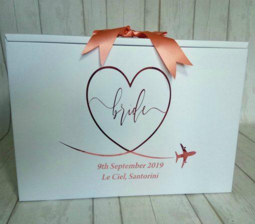 personalised wedding dress box