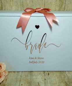 wedding dress box bride