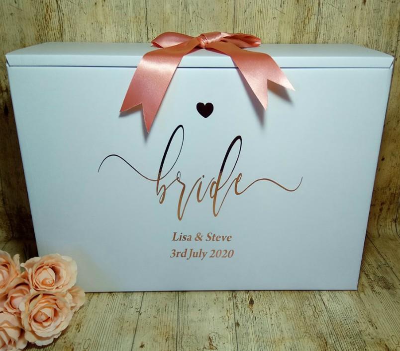 wedding dress box bride